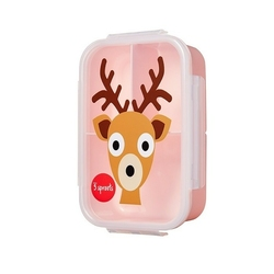 lunchbox bento 3 sprouts jeleń pink