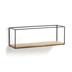 Drewniana półka julan 30x90 cm czarna