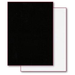 Dwustronny filc ozdobny 50x70 cm - biało-czarny - BIACZA