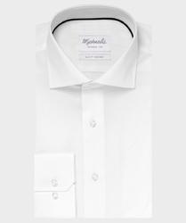 Elegancka biała koszula michaelis z kołnierzem włoskim 44