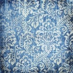 Obraz na płótnie canvas trzyczęściowy tryptyk Vintage denim tekstury z klasycznymi wzorami