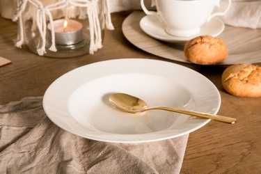 Talerz głęboki do zupy porcelana mariapaula ecru 23 cm