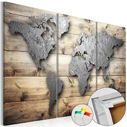 Obraz na korku - drzwi do świata mapa korkowa