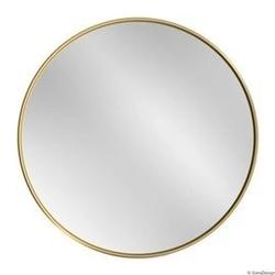 Gieradesign :: lustro skandynawskie scandi slim okrągłe złote do łazienki śr. 50