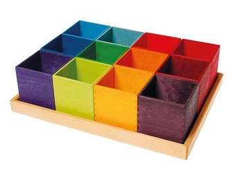 Pudełka do sortowania 3+, kolorowe, grimms