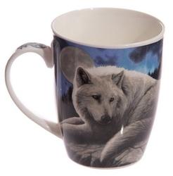 Wilk strażnik północy - porcelanowy kubek z nadrukiem projekt: lisa parker