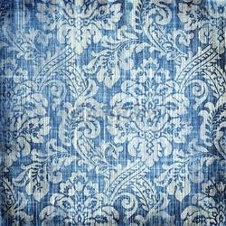 Obraz na płótnie canvas czteroczęściowy tetraptyk vintage denim tekstury z klasycznymi wzorami