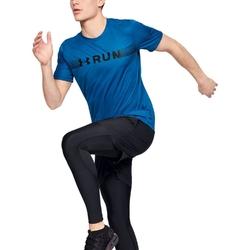 Koszulka męska under armour run warped shortsleeve - niebieski