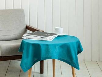 Obrus  serweta na stół kwadratowa altom design bawełniana morska  zielono-niebieska 80 x 80 cm