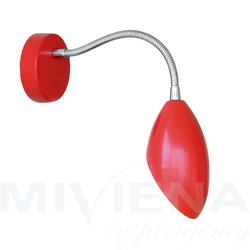 Diva flex kinkiet 1 czerwony