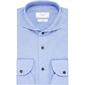 Niebieska koszula profuomo sky blue z kołnierzem z jednego kawałka tkaniny 38