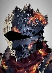 Polyamory - soul of cinder, dark souls - plakat wymiar do wyboru: 21x29,7 cm