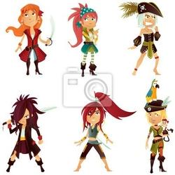 Naklejka piraci girls