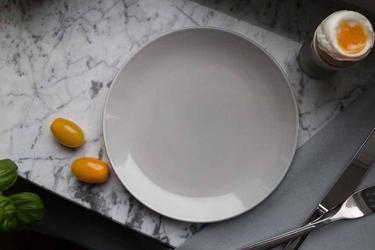 Talerz deserowy porcelanowy altom design monokolor popielaty 19 cm