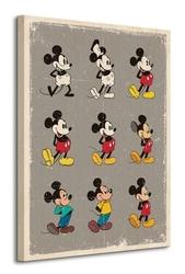 Mickey mouse evolution - obraz na płótnie