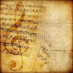 Obraz na płótnie canvas czteroczęściowy tetraptyk tło muzyczne w stylu retro