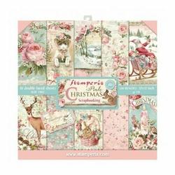 Zestaw papierów do scrapbookingu 30,5x30,5 cm PINK CHRISTMAS