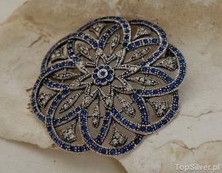 Balerina 2 - srebrna brosza z szafirami