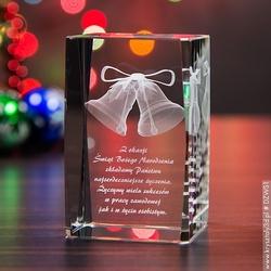 Dzwonki świąteczne 3d • personalizowana statuetka 3d średnia • grawer 3d
