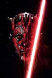 Star wars gwiezdne wojny darth maul - plakat premium