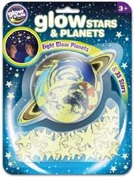 Naklejki gwiazdki oraz planety glow