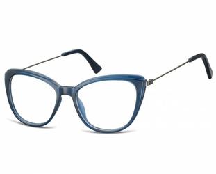 Okulary oprawki zerówki korekcyjne kocie oczy sunoptic ac8b granatowe