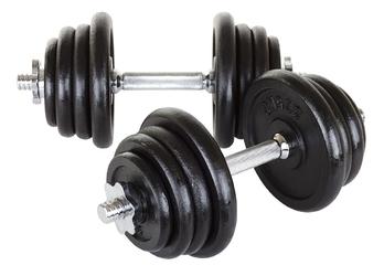 Hantle żeliwne 2 x 20 kg - hop sport - 2 x 20 kg