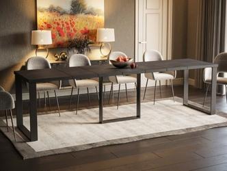 Nowoczesny rozkładany stół borys max na metalowych nogach  130-330 cm