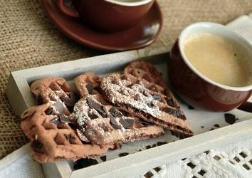 Fototapeta ciasteczka z czekoladą i kawą fp 1160