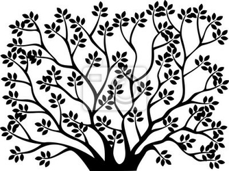 Naklejka drzewo sylwetka