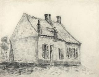 The magrot house, cuesmes, vincent van gogh - plakat wymiar do wyboru: 100x70 cm