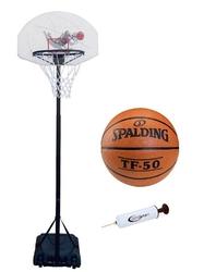 Zestaw kosz do koszykówki spartan mobilny + piłka tf-50 + pompka