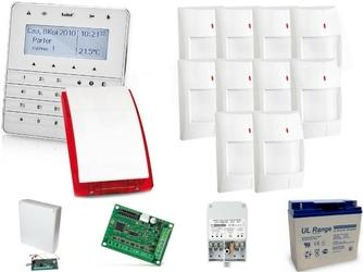 Zestaw alarmowy satel integra 128-wrl, klawiatura sensoryczna, 10 czujników ruchu, sygnalizator zewnętrzny sp-4003, powiadomienie gsm - szybka dostawa lub możliwość odbioru w 39 miastach