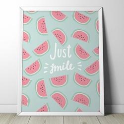 Watermelon - plakat dla dzieci , wymiary - 70cm x 100cm, kolor ramki - biały