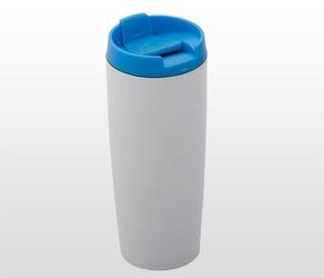 Kubek termiczny 390 ml lady plus biało-niebieski