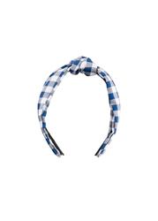 Opaska do włosów bonprix niebiesko-biały w kratę