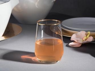 Duże szklanki do wody  do drinków  do napojów altom design rubin gold 450 ml komplet 6 sztuk