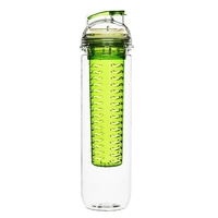 Butelka z zielonym pojemnikiem na owocelód fresh sagaform