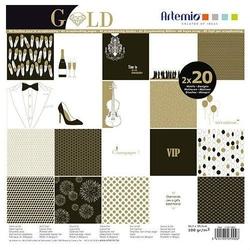 Papier do scrapbookingu 30,5x30,5 cm - Gold