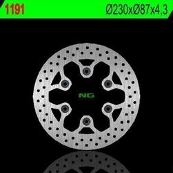 Ng1191 tarcza hamulcowa hyosung gt 125250650 230x87x4,2 6x10,5mm