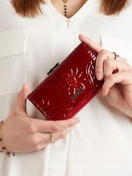 Portfel damski lakierowany czerwony cavaldi pn23 - czerwony 7