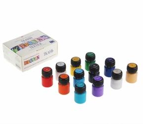 Zestaw farb do tkanin 12x20ml decola