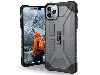 Etui uag urban armor gear plasma do apple iphone 11 pro max ash + szkło alogy - czarny