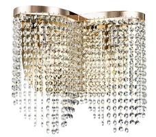 Kinkiet z kaskadą kryształków toils maytoni classic złoty dia600-02-g