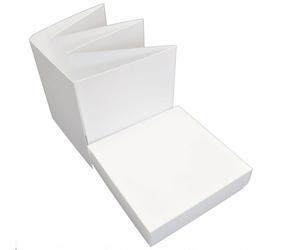 Baza do albumu harmonijka 14x14 cm w pudełku biały