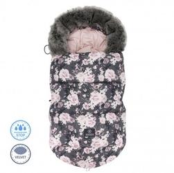 Ciepły śpiworek do wózka 0-18 miesięcy - night flowers