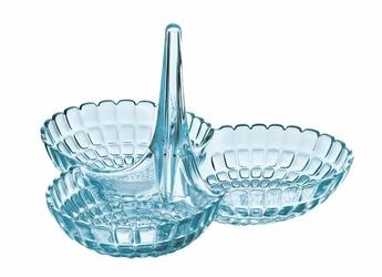 Miseczka na przekąski Tiffany potrójna jasnoniebieska