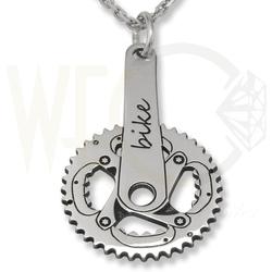Wisiorek srebrny korba rower-1 z łąńcuszkiem ankra.