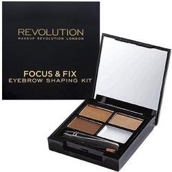 Makeup revolution focus  fix brow kit medium dark, poręczny zestaw do brwi 5,8g
