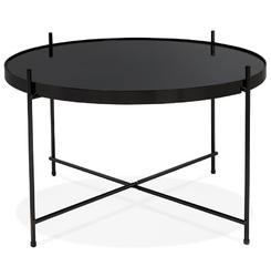 Okrągły stolik kawowy espejo medium  czarny